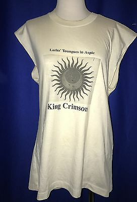 vintage 1990's King Crimson Larks Toungues In Aspic XL TSHIRT shirt sleeves cut