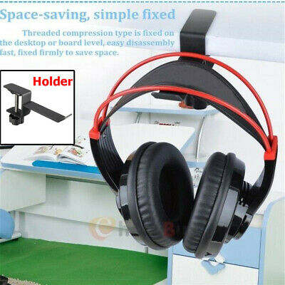 Steel Headset Earphone Headphone Holder Hanger Stand Table Clamp Clip with Screw