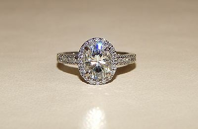 Gorgeous Palladium 1.21ct Forever Brilliant Moissanite Engagement Ring - Sz 5.25