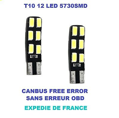 T10 Neuf W5w Ampoules Eur Led 50 12 Peugeot 6 Canbus 407 yvYf6b7g