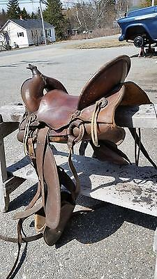 Antique WWI 1918 US Cavalry McClellan Saddle,Just in time for 100th Anniversary