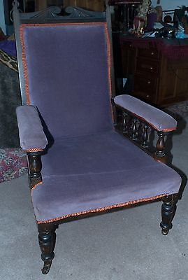 Antique Mahogany Edwardian Armchair. Courier arranged.