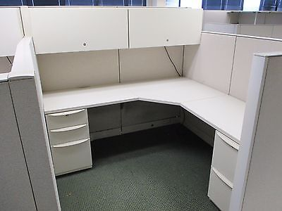 USED OFFICE CUBICLES, Haworth Premise Cubicles 8x12 ... on