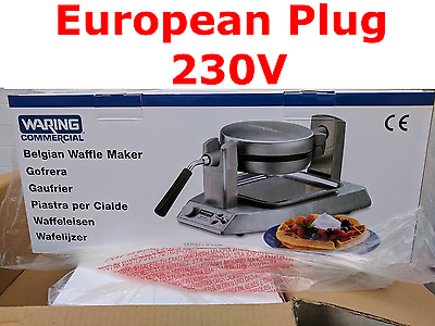 EUROPEAN PLUG 230V Waring COMMERCIAL WW150IS  Single  Belgian Waffle Maker