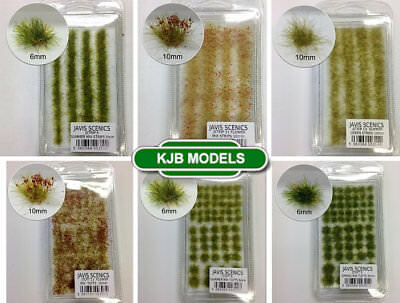 Javis Model Railway Scenery Static Grass Tufts & Strips 16 Variations Available