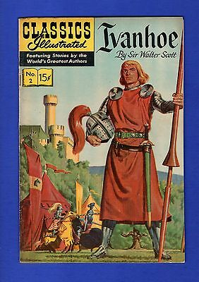 Classic Illustrated #2 Fn Ivanhoe Sir Walter Scott 1971