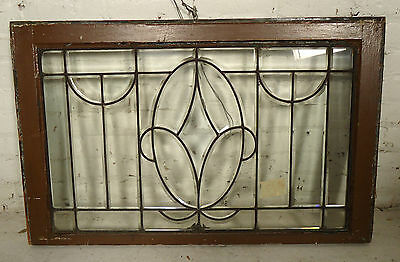 Small Vintage-Modern Clear Glass Window (2116)NS