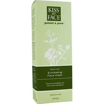 Exfoliating Face Wash  Start Up Kiss My Face 4 oz Liquid