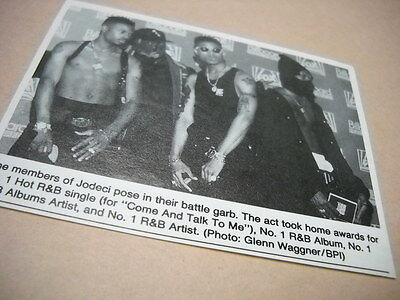 JODECI pose in their battle garb Original 1992 music biz promo pic with text