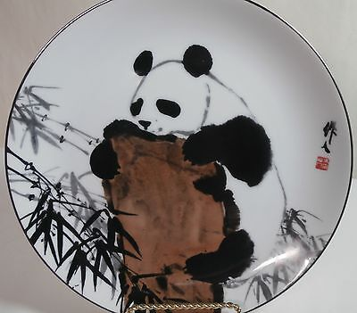 """Pandas of Wu Zuoren Plate """"Exploring"""" 6th in a Series of 6 Fleetwood Collection"""