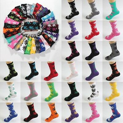 Marijuana Long Cotton Sport Weed Leaf Socks Ankle Warm Sock Crew Women Men