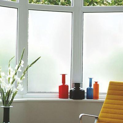NEW 200 X 60CM White Privacy Frosted Film Frost Glass Sticky Back Plastic Vinyl