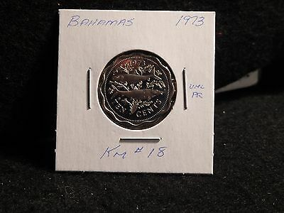 Bahama Islands:   1973   10 Cents   Coin Proof Hc   (Unc.)    (#2553)  Km # 18