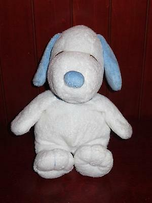 """11"""" Ty Pluffies SNOOPY 2011 Peanuts Baby Boy Toy Plush Blue White Puppy Dog"""