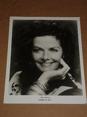 Jane Russell 10 x 8 1970s US Agency Publicity (Hand Signed)