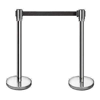 "New Star Foodservice 54606 Stainless Steel Stanchions, 36"" Height, 6.5'"