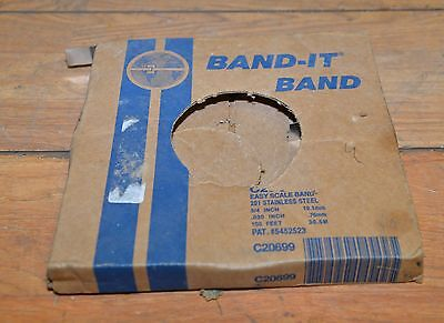 Band-it Stainless steel banding 3/4 x 100 .030 thick C206 99 knife making lot