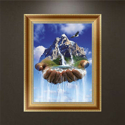 DIY 5D Diamond Embroidery Landscape Painting Cross Stitch Craft Home Decor