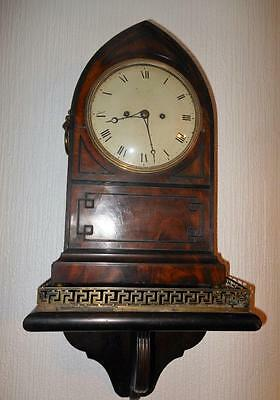 mahogany double fusee bracket on bracket clock