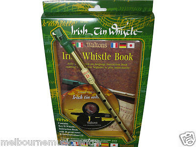 WALTONS LEARN TO PLAY THE IRISH TIN WHISTLE *Book & CD* NEW!