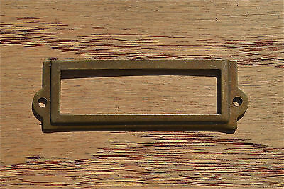 Antiqued brass file cabinet label holder name holder plan chest map drawer LH1