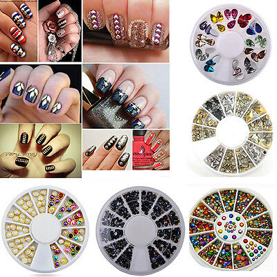 Glitter Rhinestones 3D Nail Art Tip Decor DIY Accessories Acrylic Gem Decoration