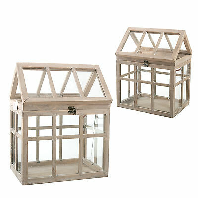 mini gew chshaus braun holz glas ziehkasten windlicht laterne kerzenhalter eur 39 90 picclick de. Black Bedroom Furniture Sets. Home Design Ideas