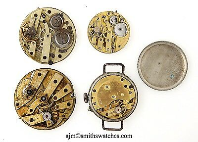 Swiss Cylinder Watch Movements X4 Spares Or Repairs R306