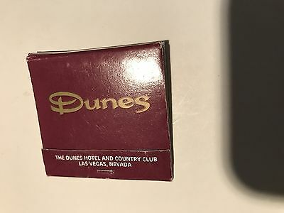 Dunes Hotel Casino Vintage Matchbook Purple Logo Las Vegas Nevada