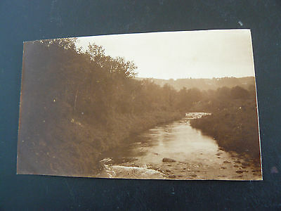 Real Photo RP Postcard - The Dart at New Bridge - a Private One Off Photograph