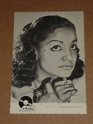 Mona Baptiste 6 x 4 late 1950s German Polydor Records Photocard (Hand Signed)
