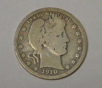 USA 1910D Barber Quarter Dollar. Very Good.