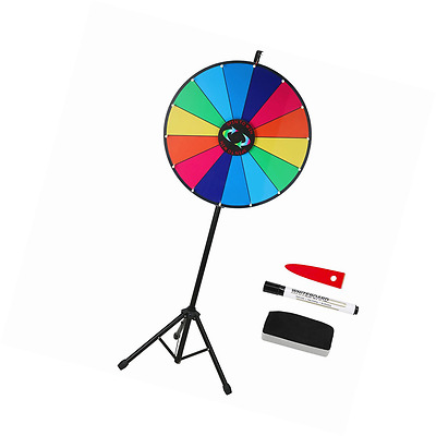 Voilamart 24 Inch 14 Slots Color Dry Erase Prize Wheel with Tripod Floor Stand