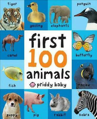 First 100 Animals by Roger Priddy (English) Board Books Book Free Shipping!