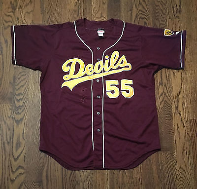 Arizona State Baseball Jersey Wilson Sz 46 Game Worn Team Issued Sun Devils Sewn