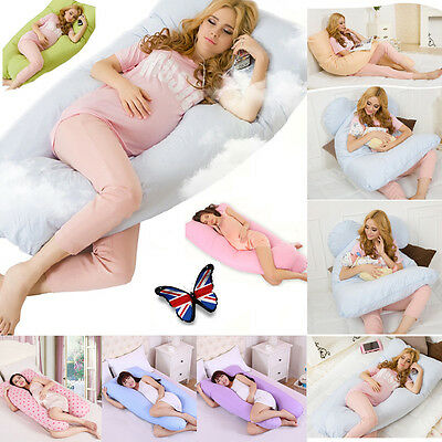 9Ft U Pillow Case Maternity Pregnancy Body Bolster Support Comfort Pillow Cover