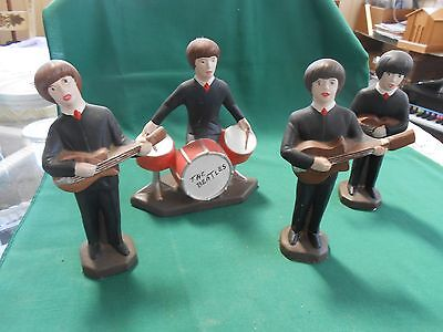 Great Collectible Set of 4 Ceramic Figures THE BEATLES.........SALE