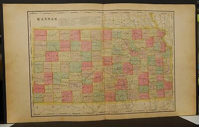 Kansas State Map  1901   Double Page  Y9#66