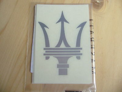 Aufkleber Sticker MASERATI Tridente Silver 115 x 87 mm Neu Official Original