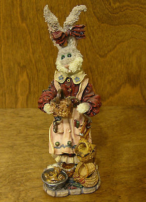 Boyds Folkstones #28401 Wendy Willowhare...A Tisket A Tasket, NIB Rabbit Easter