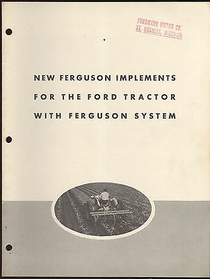 1941 Brochure Advertising New Ferguson Implements For The Ford Tractor