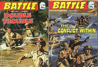 BATTLE PICTURE LIBRARY  ISSUE Nos: 167 & 168 (Circa 88) WAR