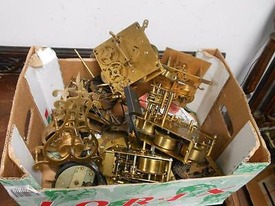 bundle of clock movements for spares