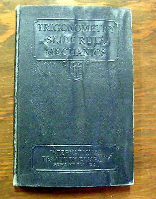 1930 Trigonometry Slide Rule Mechanics By International Textbook Co. As Is