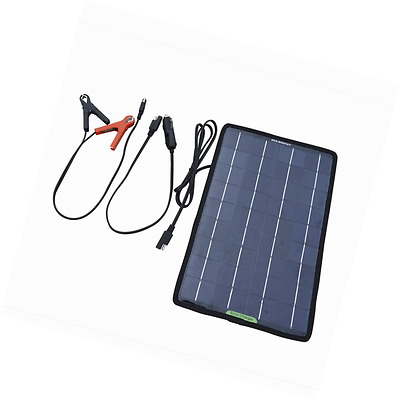 ECO-WORTHY 12V 10W Portable Power Solar Panel Battery Charger Backup - Car Boat