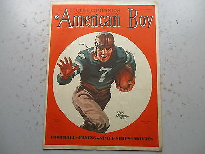 The American Boy Magazine - November 1938 Issue with FOOTBALL Cover