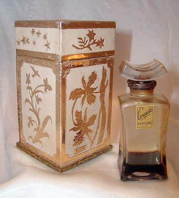 Vintage CONQUETE Perfume Bottle By LANCOME  in Original Box