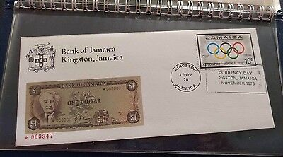1976 The Bank of Jamaica Currency Day Covers In Original Holder