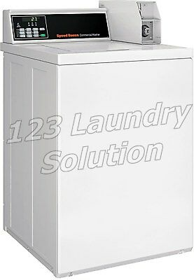 Speed Queen Commercial Top Load Washer Coin Drop Installed 120V SWNNC2SP113TW02