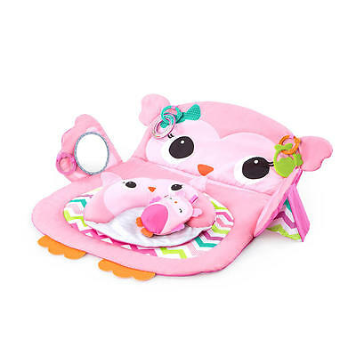 New Bright Starts Prop & Play Tummy Time Mat - Owl Model:24712003